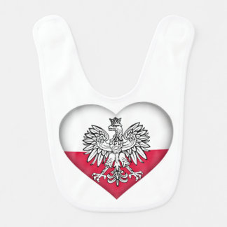 Polish Love Baby Bib