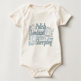 Polish Lowland Sheepdog Baby Bodysuit