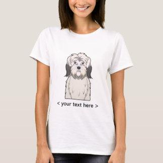 Polish Lowland Sheepdog Cartoon Personalized T-Shirt