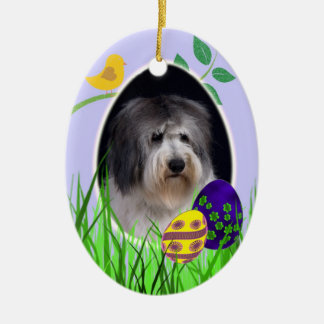 Polish Lowland Sheepdog Easter Ornament
