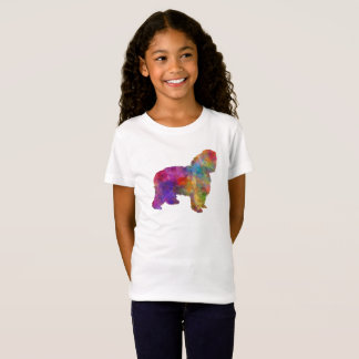 Polish Lowland Sheepdog in watercolor T-Shirt