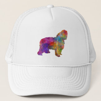 Polish Lowland Sheepdog in watercolor Trucker Hat
