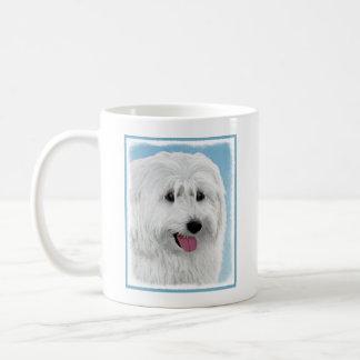 Polish Lowland Sheepdog Painting - Original Dog Ar Coffee Mug