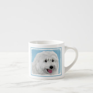 Polish Lowland Sheepdog Painting - Original Dog Ar Espresso Cup