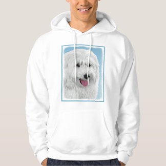 Polish Lowland Sheepdog Painting - Original Dog Ar Hoodie