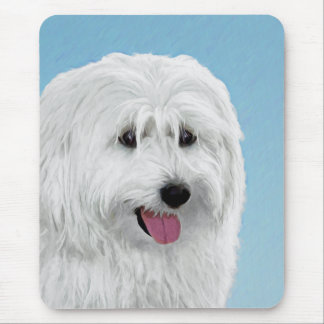 Polish Lowland Sheepdog Painting - Original Dog Ar Mouse Pad