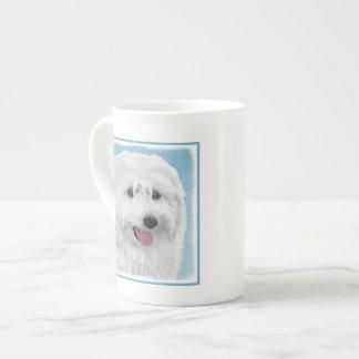 Polish Lowland Sheepdog Painting - Original Dog Ar Tea Cup