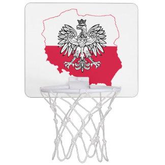 Polish Map Flag Basketball Hoop