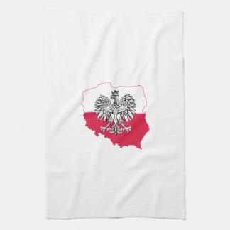 Polish Map Flag Kitchen Towel