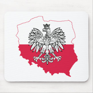 Polish Map Flag Mousepad