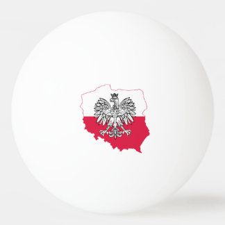 Polish Map Flag Ping Pong Balls
