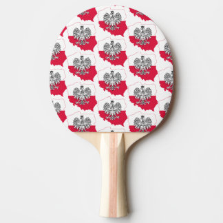 Polish Map Flag Ping Pong Paddle