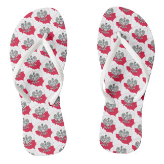 Polish Map Flag Sandals
