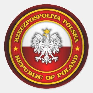 Polish Medallion Classic Round Sticker