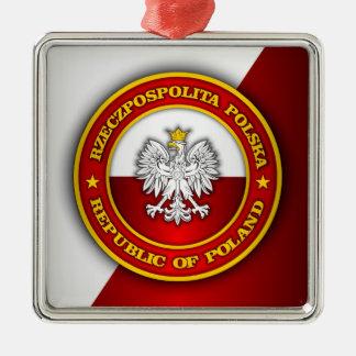 Polish Medallion Metal Ornament