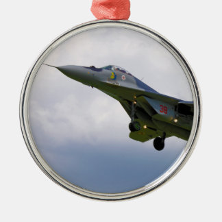 Polish MiG-29 version 9.12A from Base in Malbork Metal Ornament