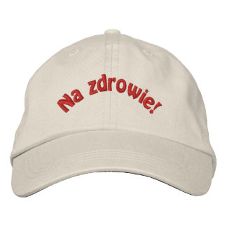 Polish Na Zdrowie Embroidered Baseball Cap