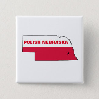 POLISH NEBRASKA 2 INCH SQUARE BUTTON