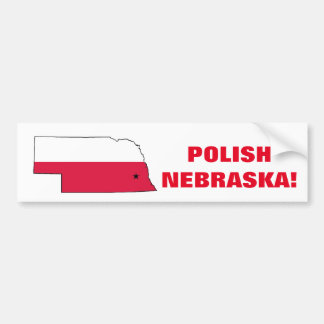 POLISH NEBRASKA BUMPER STICKER