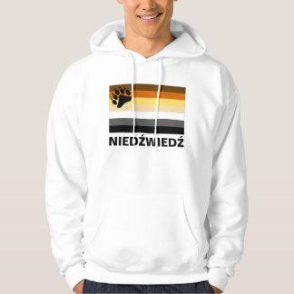 Polish (Niedźwiedź) Gay Bear Pride Flag Hoodie