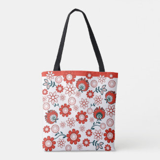 polish pattern folk tote bag