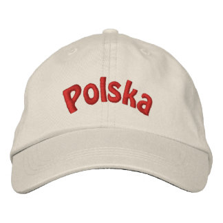 Polish Polska Embroidered Baseball Cap