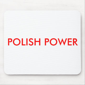 POLISH POWER MOUSE PAD