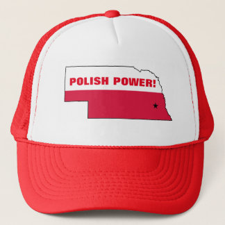 POLISH POWER NEBRASKA TRUCKER HAT