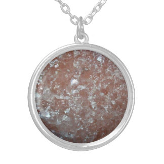 Polish rock salt silver plated necklace