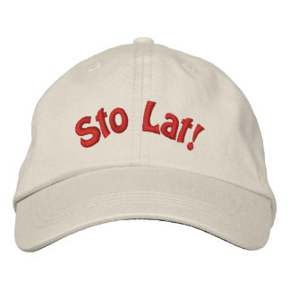 Polish Sto Lat Cute Embroidered Hat