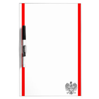 Polish stripes flag dry erase board