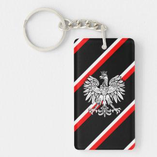 Polish stripes flag keychain