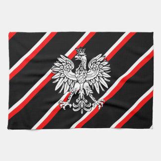 Polish stripes flag kitchen towel