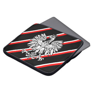 Polish stripes flag laptop sleeve