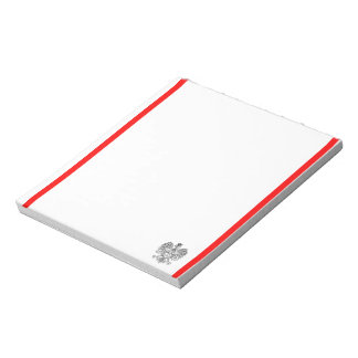 Polish stripes flag notepad