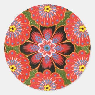 Polish Tole painting design Classic Round Sticker