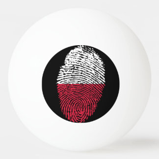 Polish touch fingerprint flag ping pong ball