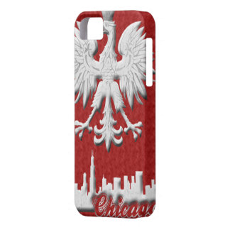 Polish White Eagle Chicago Skyline iPhone 5 Case-M iPhone 5 Case