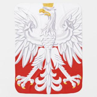 Polish White Eagle Flag Baby Blanket