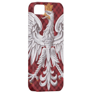 Polish White Eagle Plaid iPhone 5 Case-Mate Barely