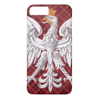 Polish White Eagle Plaid iPhone 7 Plus Case