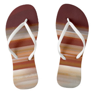 Polished Agate Slice Photo Flip Flops