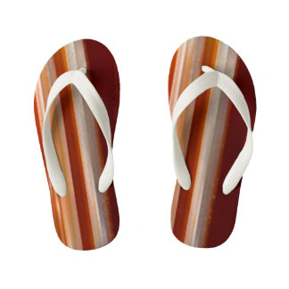Polished Agate Slice Photo Kid's Flip Flops