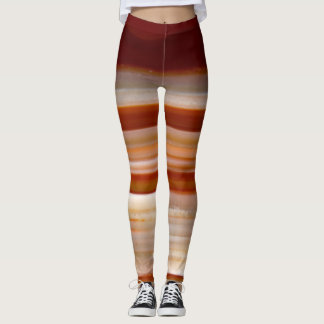 Polished Agate Slice Photo Leggings