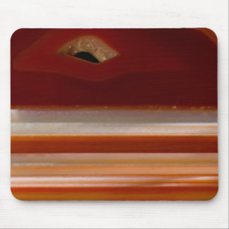 Polished Agate Slice Photo on Black Background Mouse Pad