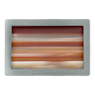 Polished Agate Slice Photo Rectangular Belt Buckle