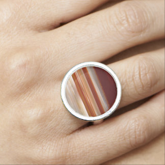 Polished Agate Slice Photo Ring