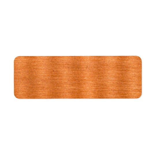 Polished Copper Wavy Texture Background Return Address Label