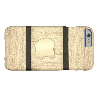 Polished plain wood inlaid case