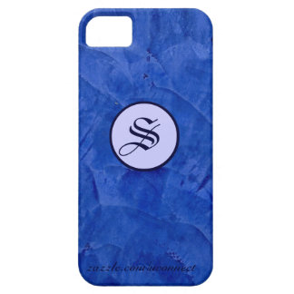 Polished Plaster - Tuscan Blue iPhone 5 Covers